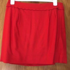 J. Crew Red Wool Mini Skirt